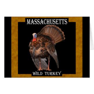 Massachusetts Wild Turkey Card