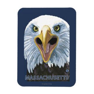 MassachusettsEagle Up Close Rectangular Photo Magnet