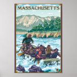 MassachusettsRiver Rafting Scene Posters