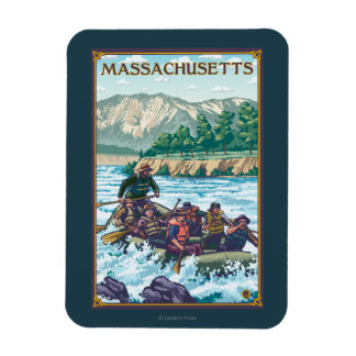 MassachusettsRiver Rafting Scene Rectangular Photo Magnet