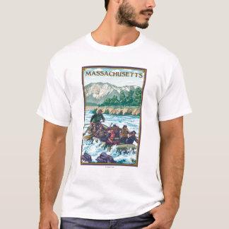 MassachusettsRiver Rafting Scene T-Shirt