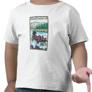 MassachusettsRiver Rafting Scene T Shirt