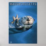 MassachusettsSea Otter Scene Poster