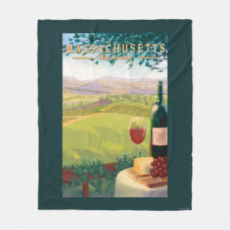 MassachusettsWine Country Scene Fleece Blanket