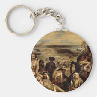 Massacre at Chios Basic Round Button Key Ring