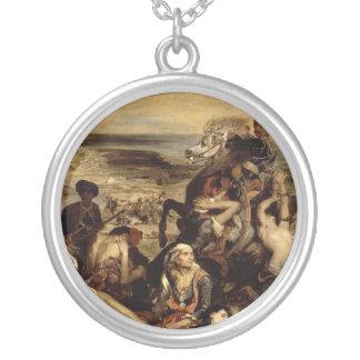 Massacre at Chios Round Pendant Necklace
