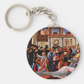 Massacre Of The Innocents By Angelico Fra Keychains