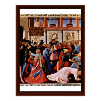 Massacre Of The Innocents By Angelico Fra Postcard