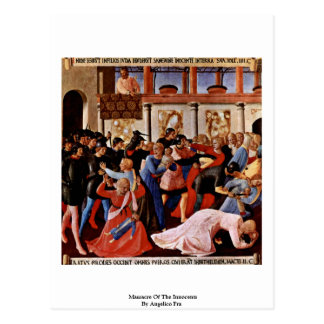 Massacre Of The Innocents By Angelico Fra Post Card