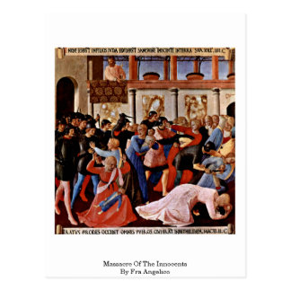 Massacre Of The Innocents By Fra Angelico Postcard