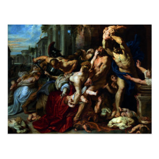 Massacre of the Innocents by Peter Paul Rubens Post Card