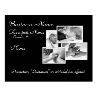 Massage/Bodywork Promotional Postcard