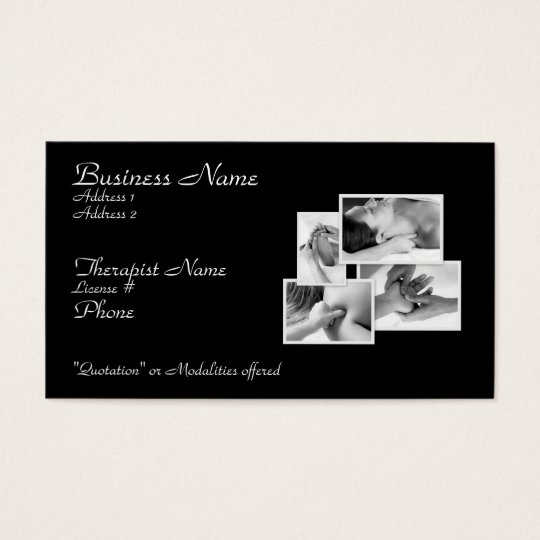 Massage/ Bodywork Therapist Card
