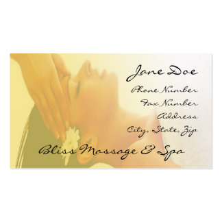 massage Double-Sided standard business cards (Pack of 100)