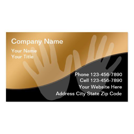 Create your own physical therapist business cards page2 for Massage business card templates