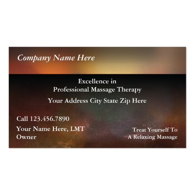 Massage business cards for Massage business card templates