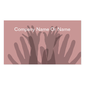 Massage Business Cards With Silhouettes