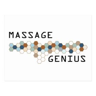 Massage Genius Postcard