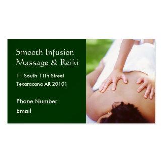 Massage hands on back photo pack of standard business cards