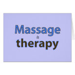 Massage is therapy