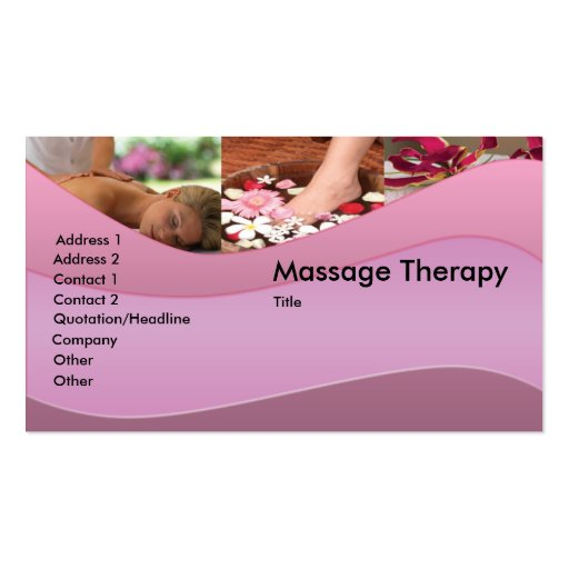 Premium Massage Business Card Templates