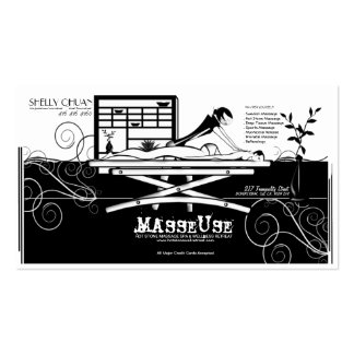 Massage Salon/Therapist/Masseuse Business Card Business Card Template