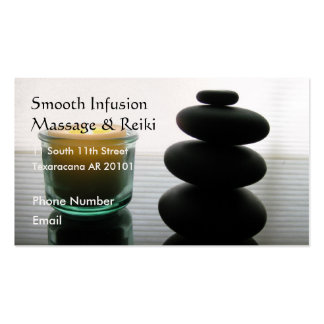 Massage stones and candle Double-Sided standard business cards (Pack of 100)