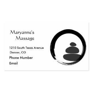 Massage Stones and Enso Circle Double-Sided Standard Business Cards (Pack Of 100)