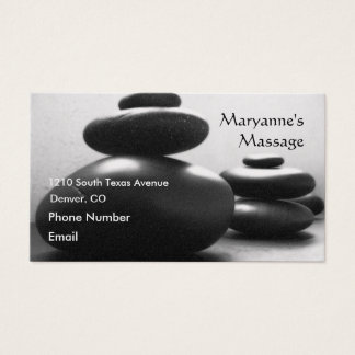 Massage Stones Business Card