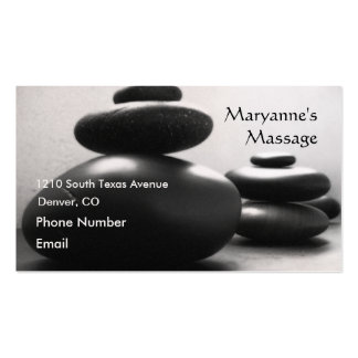 Massage Stones Business Cards