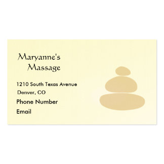 Massage Stones in Sand Simple Drawing Business Card Templates