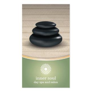 Massage Stones on Wood Spa Sage Pack Of Standard Business Cards