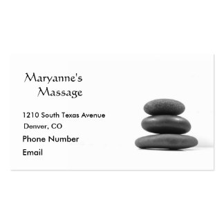 Massage Stones Photo Business Cards
