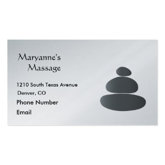 Massage Stones Simple Drawing Pack Of Standard Business Cards