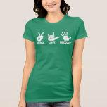 Massage T-Shirt: Peace, Love, Massage White