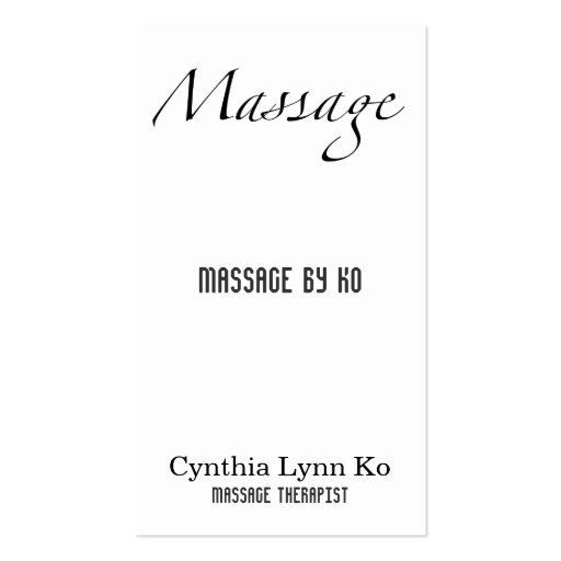 create your own therapist business cards