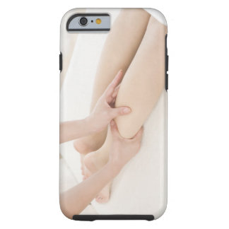 Massage therapist applying foot massage tough iPhone 6 case