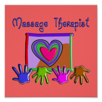 Massage Therapist Artsy & Funky Poster