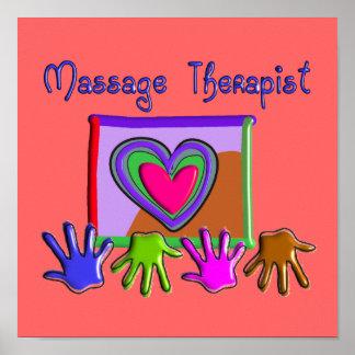 Massage Therapist Artsy Funky Poster
