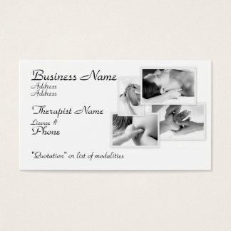 Massage Therapist, black & white on white