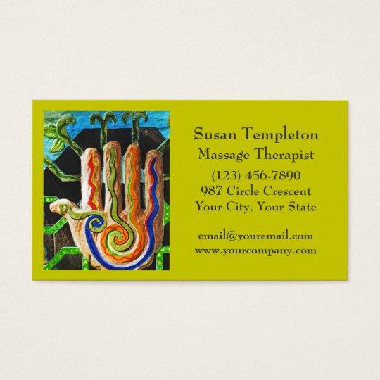 Massage Therapist, Bodywork, Reflexology Business Card