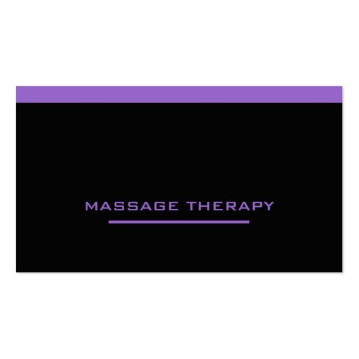 Massage Therapist Business Card Templates