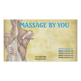 Massage therapist business card template