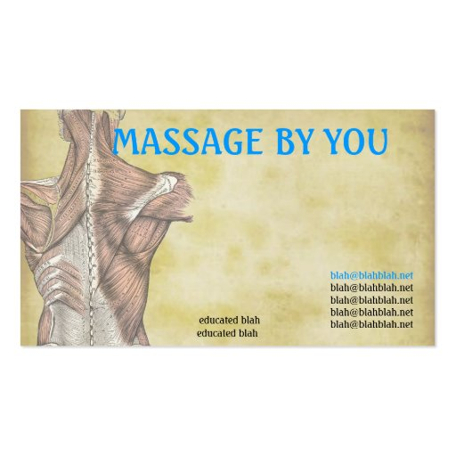 Premium massage business card templates massage therapist business card template cheaphphosting Gallery