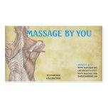 Massage therapist business card template
