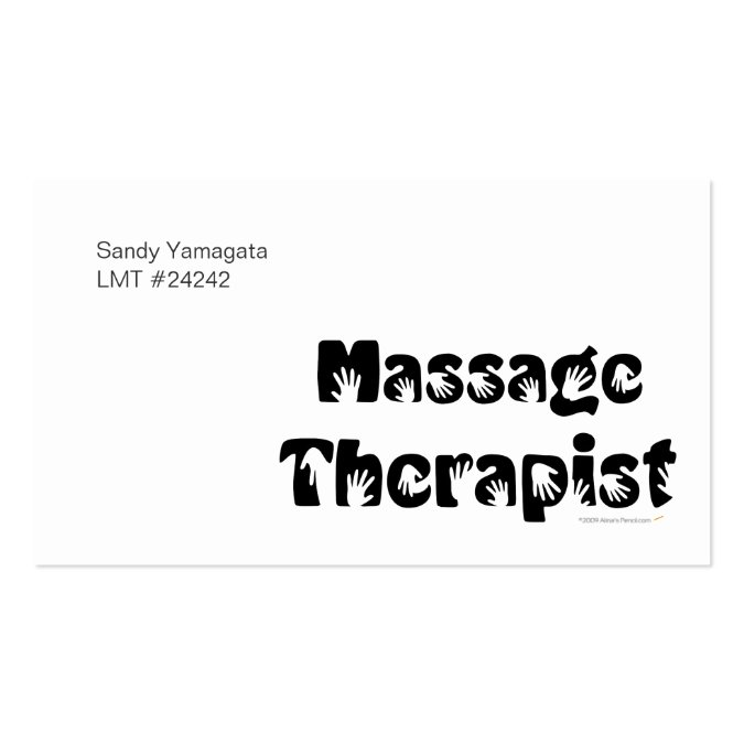 Massage therapist business cards template for Massage business card templates