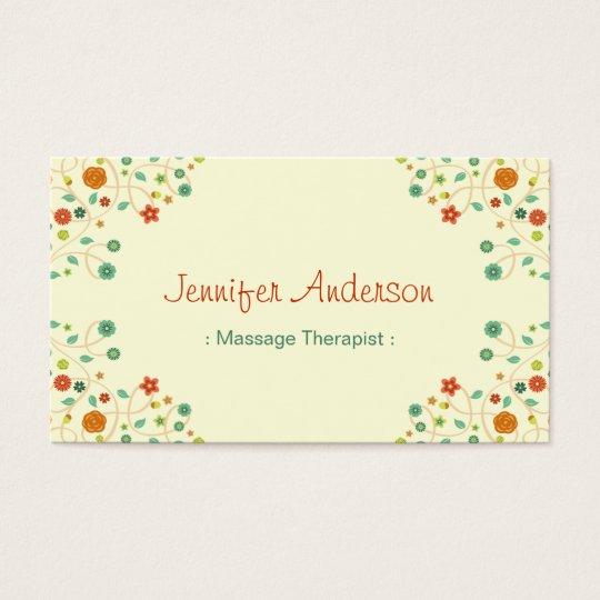 Massage Therapist - Chic Nature Stylish Business Card