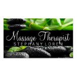 Massage Therapist, Clinic, Wellness Business Card Standard Business Cards