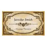Massage Therapist - Elegant Vintage Antique Pack Of Standard Business Cards