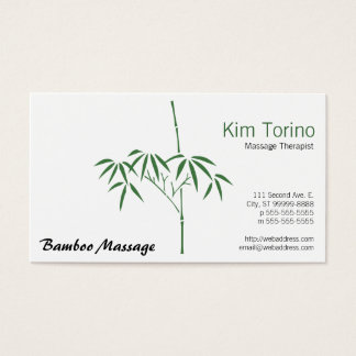 Massage Therapist Garden Bamboo Business Card